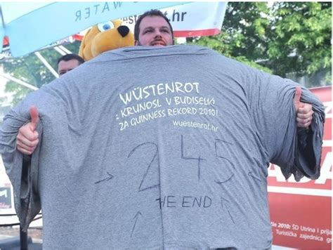 Tshirt World Time most t shirts worn at one time kruno budiselic sets world record