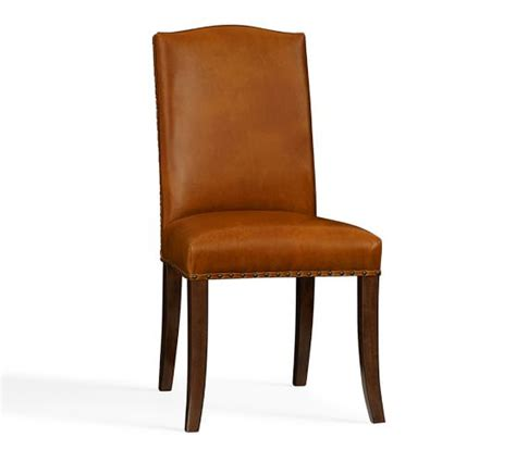 Pottery Barn Leather Dining Chair Staten Leather Side Chair Pottery Barn