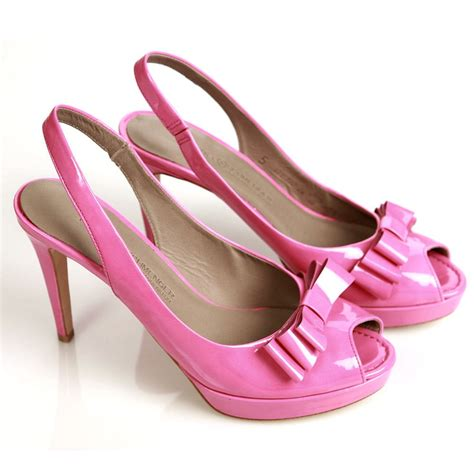 pink shoes trendy light bright pink footwear collection for