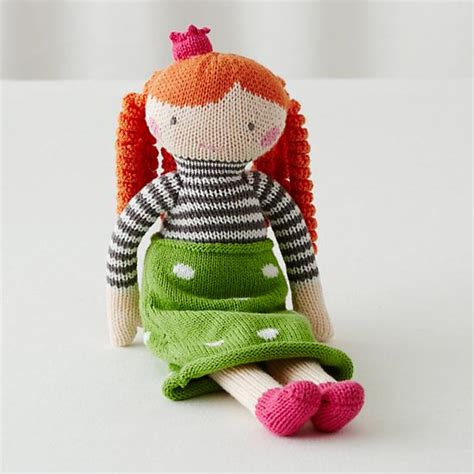 knitted doll the 14 quot knit crowd doll neve the land of nod