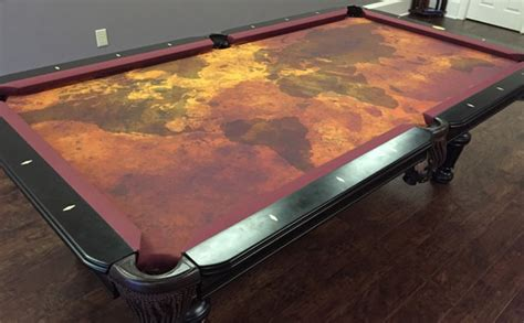 custom artscape and pool table felt billiard cloth