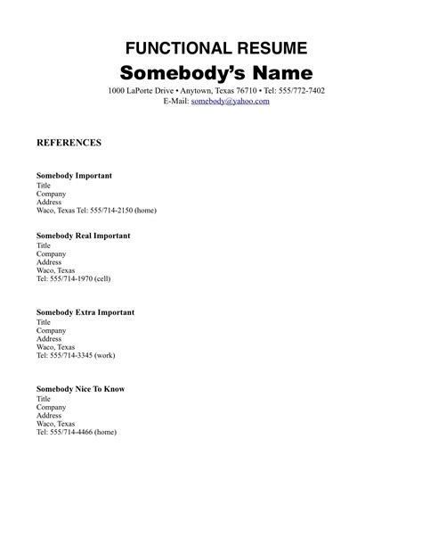 Sle Functional Resume For Cashier Resume Exles With No Work 28 Images 8 Basic Resume Exles For Cashier Resumes 6 Basic Sle