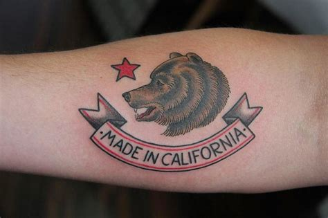 best california tattoo designs
