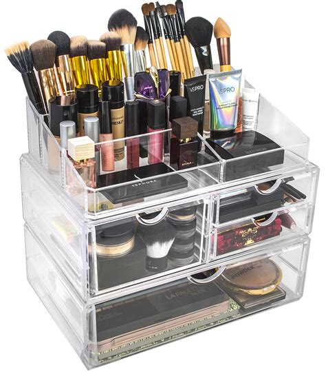 Custom Acrylic Make Up Box acrylic cosmetics makeup and jewelry storage x large display sets sorbus