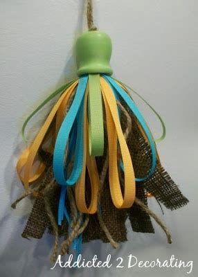 Finn Logue Also Search For Diy Make A Burlap Ribbon Tassel For The Home