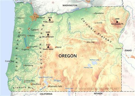 physical map  oregon