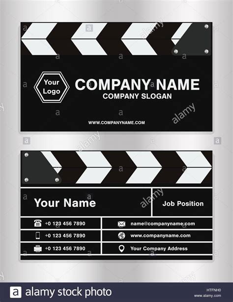 theme company names simple clapperboard theme business name card template for