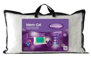 Pillow With Cooling System by Slumberdown Mem Gel Pillow With Inbuilt Cooling System