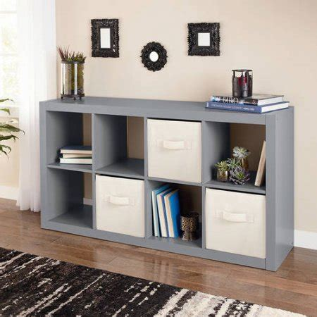 better home decor better homes and gardens 8 cube organizer creates multiple storage solutions gray modern
