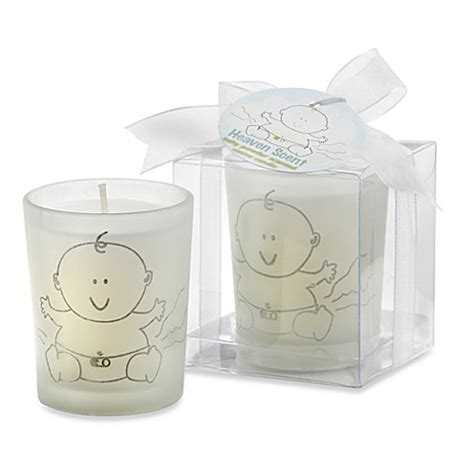 Baby Shower Votive Candle Favors by Kate Aspen 174 Glass Votive Baby Powder Candle Baby Shower