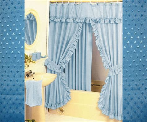 swag shower curtain diamond pattern fabric double swag shower curtain set