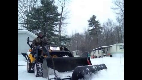 4x4 tractor moving snow with a homemade fabricated steel snow plow yanmar plowing snow youtube