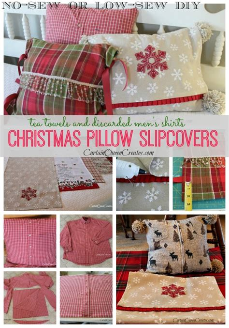 diy decorations sewing diy pillow slip covers no sew or low sew hometalk