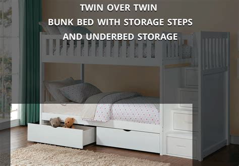 Bunk Beds With Storage Steps Galen Bunk Bed With Storage Steps