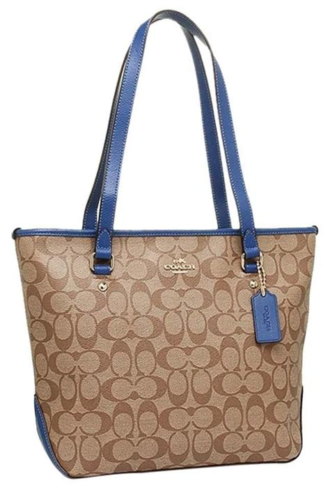 coach small monogramblue tote bag  sale