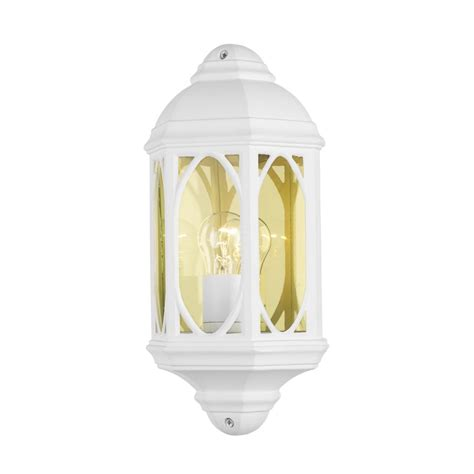 White Outdoor Lights White Outdoor Garden Wall Light Traditional Design In White Aluminium