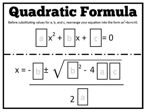 template function math quadratic formula templates