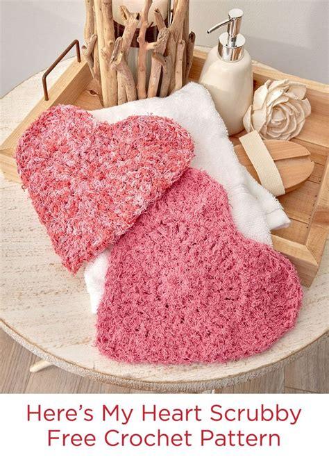 swirl scrubby free crochet pattern in red heart yarns 25 best ideas about crochet hearts on pinterest free