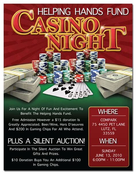 Casino Night Flyer By Djsin78 On Deviantart Casino Fundraiser Flyer Template