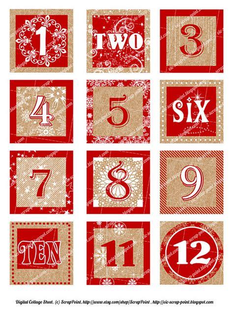 printable christmas numbers 7 best images of printable december calendar numbers