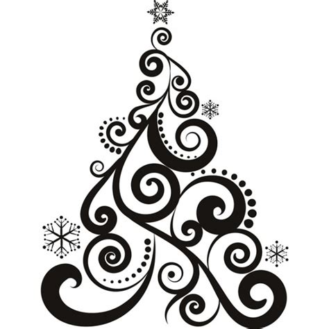 Christmas Wall Art Stickers swirl christmas tree wall sticker christmas wall art