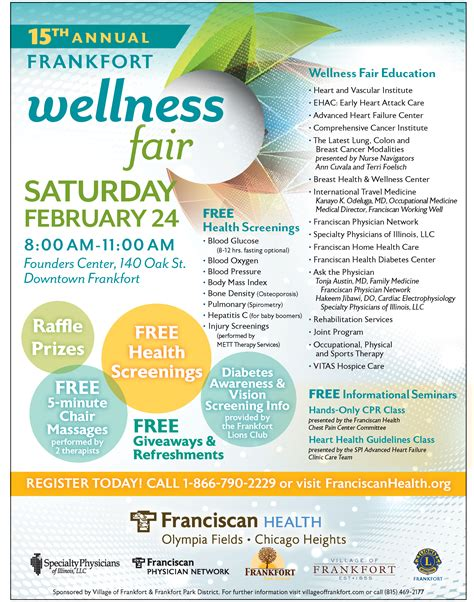 Free Health Fair Giveaways - special events frankfort park district