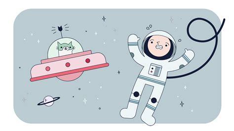 Vector Cat In Space space cat vector free vector stock