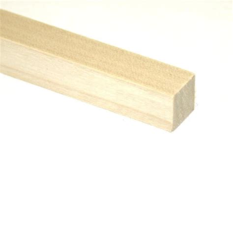 shop madison mill square wood poplar dowel actual 36 in l x 0 375 in dia at lowes com