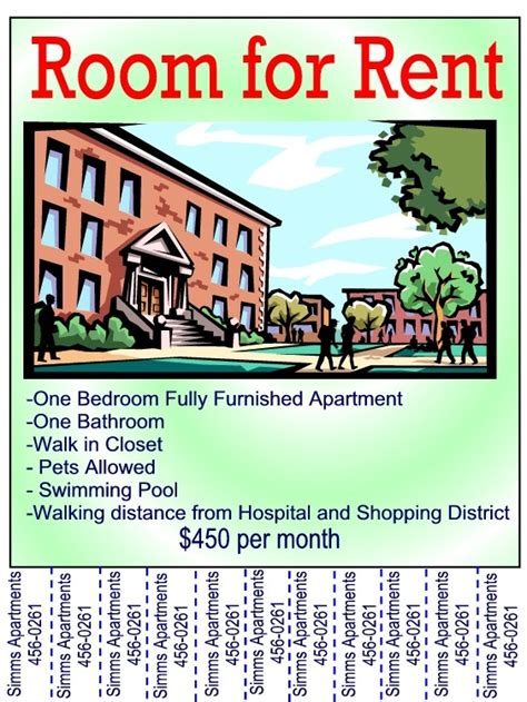 printable apartment for rent sign
