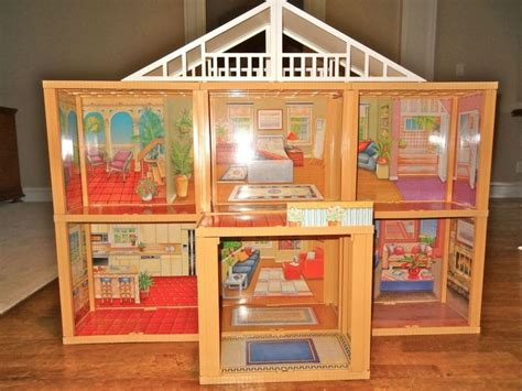 old barbie doll houses excellent vintage meritus barbie doll house 1984 simple assembly required barbie