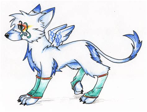 cute anime cat with wings drawings anime wolf with wings drawings anime wolf w wings by