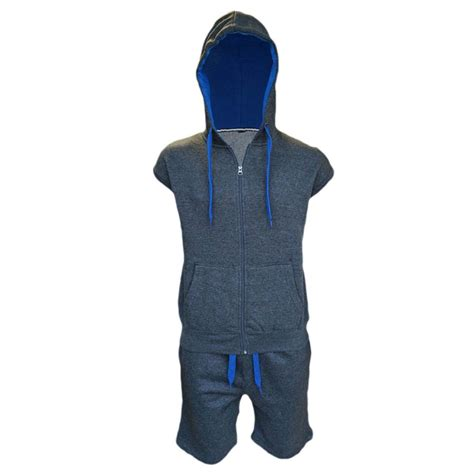 Set Hodie mens tracksuit set fleece hoodie top bottoms joggers gilet set ebay