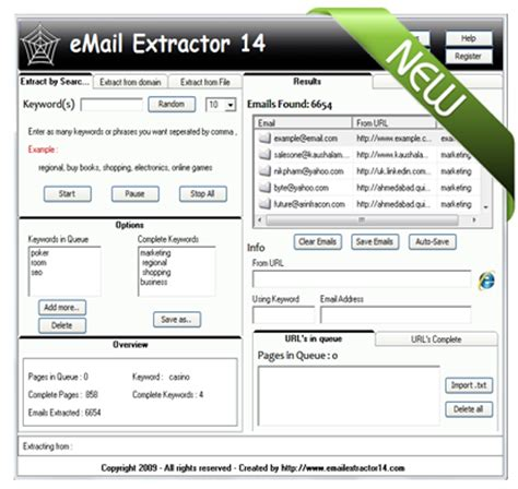 Search Engine Email Extractor Email Extractor 14 Extract 2 000 Emails Per Minute