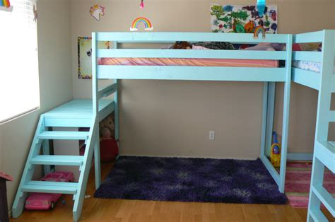ana white two c loft beds diy projects