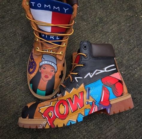 colorful timberland boots shoes timberlands hispter grunge colorful trendy