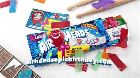 Airheads Sweepstakes - airheads epic birthday tv commercial winzily