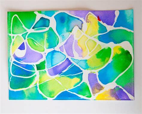 Watercolor Resist Rubber Cement