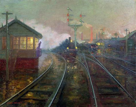 painting trains at painting by lionel walden
