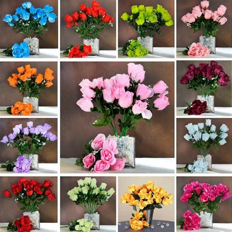 252 silk buds roses wedding flowers bouquets wholesale supply for centerpieces ebay