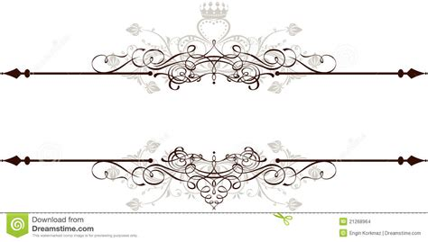 vintage ornamental banner stock vector image of elegance