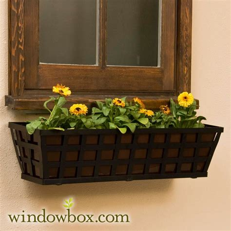 santiago tapered iron window box  oil rubbed