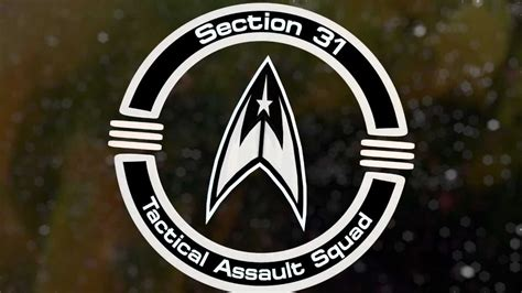 section 31 star trek 3d animated logo ident section 31 tactical assault squad