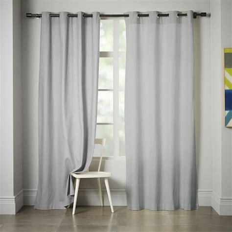 linen cotton drapes linen cotton grommet curtain platinum west elm