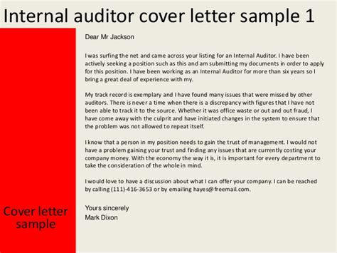 Chart Auditor Cover Letter by Sle Cover Letter For Audit Officer Cover Letter