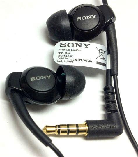 Headset Earphone Sony Xperia Mh410c Mh Aksesoris Hp Termurah original sony stereo headset mh ex300ap earphone for xperia z zl v blk headset sony