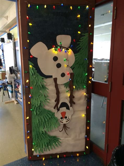 my olaf holiday door decoration for school classroom