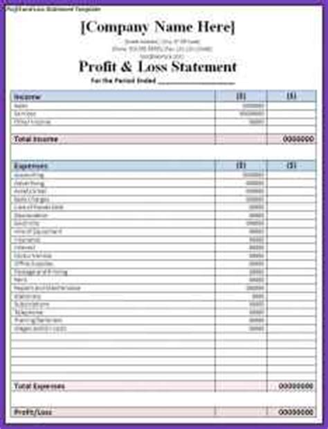 generic profit and loss statement etame mibawa co