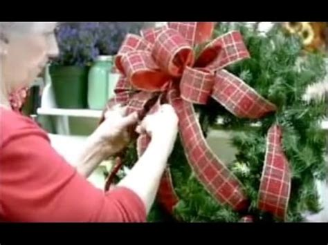 youtube how to make a silver xmas bow wreath bow