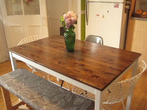 ikea dining table hacks new life for an ikea table ikea table hack pinterest