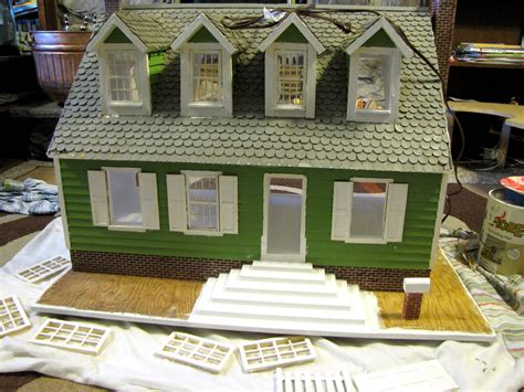 doll house paint boogie beans refinishing the dollhouse painting part 2